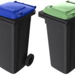 Set europubele-gunoi-120-l-capac-albastru si verde