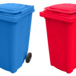 set 2 europubele albastru – rosu
